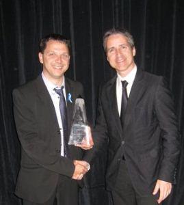Dominic Sévigny, président de RunAtServer et Pierre Savignac, président d'Emergex RS&DE Conseil