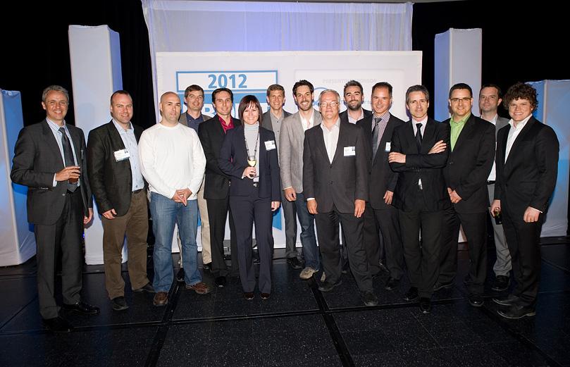 Parmi les entrepreneurs de Montréal affichant la plus forte croissance au Canada, Pierre Savignac d'Emergex est 4e en partant de la droite.